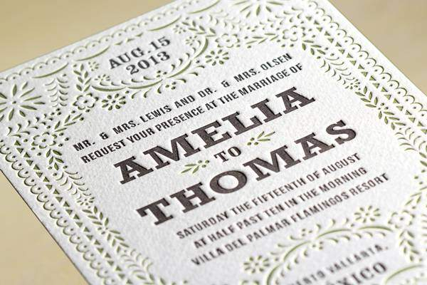 Letterpress A Traditional Wedding Cards Printing Technique Articles Reader Submit Your