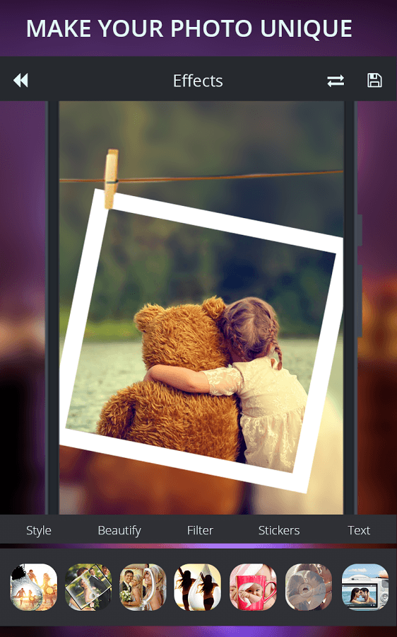 Transform your ordinary pictures like never before with PIP Photo Editor !!!