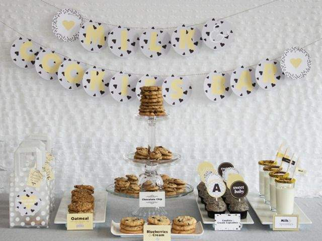 Ideas for Cookies and Milk Bar at Wedding Food Station