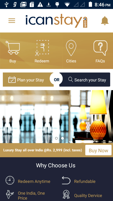 Icanstay Android App