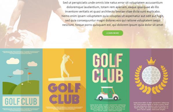 Golf HTML template