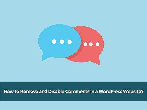 Disable Comments in WordPress Website