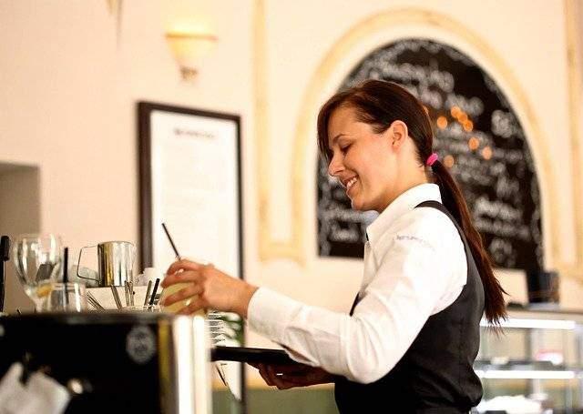 get a job as a waiter