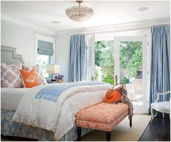 Beautiful use of Curtains in the bedroom interiors - Shruti Sodhi Interior Designs