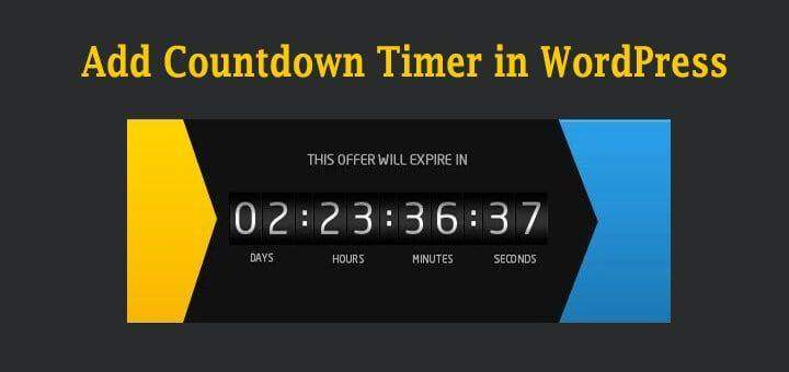 3 Easy Ways To Add A Countdown Timer To WordPress Websites