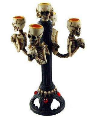 gothic candle holders