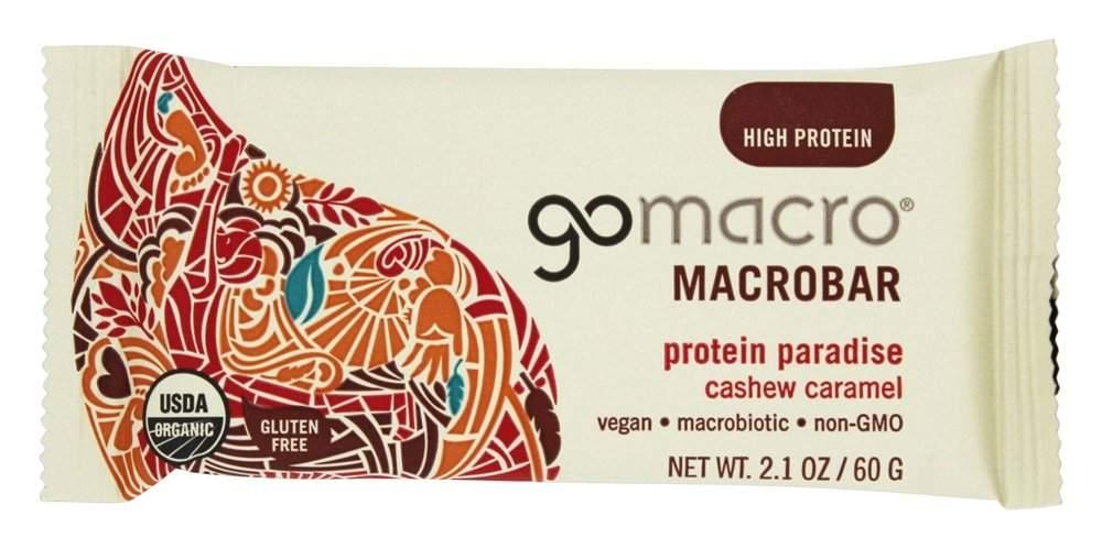 GoMacro Macro bar Protein Paradise, Cashew Caramel